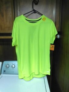 Champion C9 Day Glow Green Duo Dry Reflective Open Back Shirt L Womans Bicycle