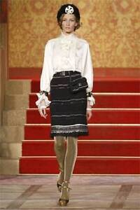 NWT CHANEL Paris Moscow Cashmere Skirt with PaillettesFringe