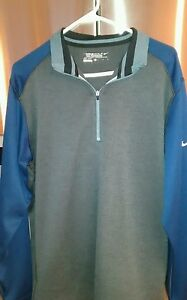 Nike Golf Tour Performance Half Zip Dry Fit Pullover Shirt Size large Men's