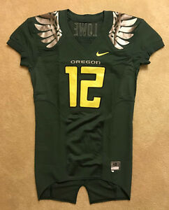 Oregon Ducks Nike Authentic Game Worn Used Issued Pro Combat Jersey 42 SKILL CUT