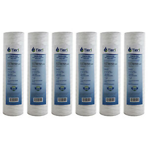 10 x 2.5 Inch 30 Micron Pleated Polyester Sediment Water Filter 6 Pack