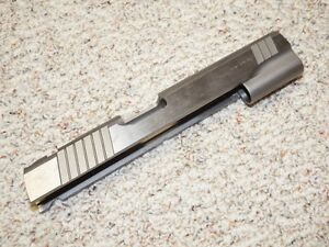 1911 Stainless Steel 45 ACP full size government slide