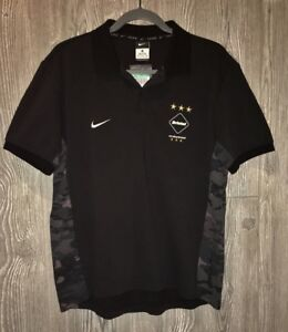 NEW Mens Sz XL NIKE FCRB Sophnet Black FC Real Bristol Team SS Polo Shirt L