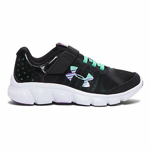 Under Armour Kids Girls UA GPS Assert 6 AC Little Kid BlackAntifreezeStrobe 12