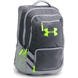 Under Armour Storm Hustle II Backpack 1263964-008 Stealth GraySteelHyper Green