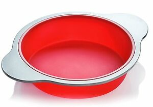 Silicone Round Cake Pan  Large 9-inch Baking Cake Mold by Boxiki Kitchen  Best