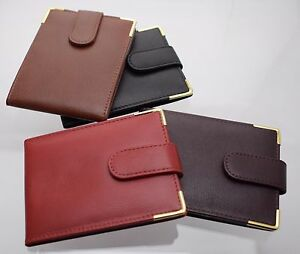 Golunski Leather Landscape Style Leather Credit Wallet 12 Credit Card Holder NEW