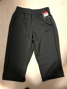 Womens Shorts WPockets Dri-Fit Black Dance Gym Work-Out 34 Trackies ANTHRACI