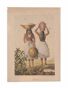 Pimo Women and Yumas two antique lithographs of Native Americans from 1857 $59.00