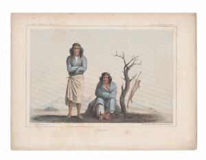 The Cocopas and Mojaves two antique lithographs of Native Americans from 1861 $99.00