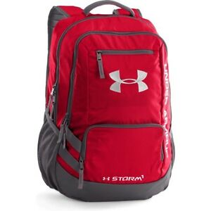 Under Armour Storm Hustle Ii Mens Rucksack - Red Graphite Silver One Size
