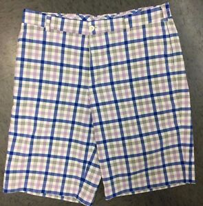 Men's Nike Golf Ombre Shorts BLUELAVENDERWHITE Checkered size 33