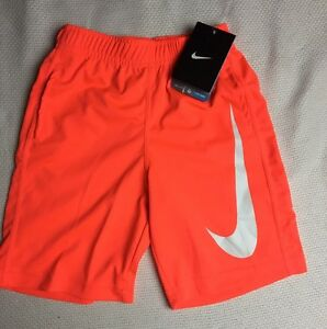 Nike Dry Fit Big Check Shorts Size 4 Little Boys Basketball Pink White