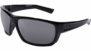 Under Armour Men's UA Launch Sunglasses Shiny Black Polarized Lens