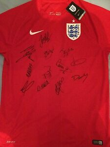 England Women Signed Shirt x12 - Lionesses Ladies Football Carney Nobbs Daly