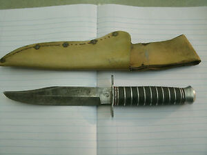 WW2 TRENCH KNIFE Vintage PIC Solingen Germany Sheriff Bowie Stacked Handle