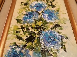 LORAIN SIGNED ART OIL FRAMED PAINTING IMPRESSIONISM FLOWERS $75.00