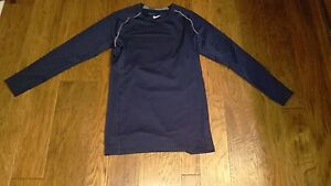 NWT Nike Men's Blue Compression Dry Fit Long Sleeve Shirt 2XL