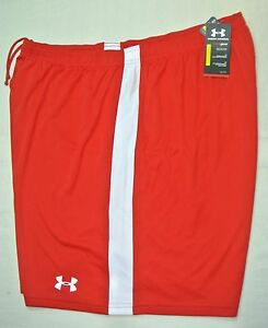 Under Armour UE Mens Regular Fit Cool Dry Light Soccer Shorts 3XL XXXL Red White