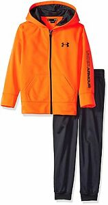 Under Armour Toddler Boys Active Hoodie and Pant Set Orange 4T