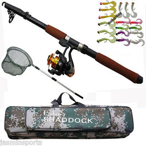 2.4M Fishing Rod and Spinning Reel Combo Portable Telescopic Fishing Rod