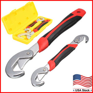 2PC Snap'N Grip Adjustable Wrench Spanner 9-32mm Universal Quick Multi-functIon