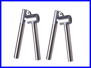 NEW 2pcs Garlic Press Kitchen Tool Stainless Steel Removable Insert Sturdy
