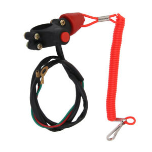 Universal Engine Stop Kill Tether Switch w Strap for ATV Racing Emergency $8.19