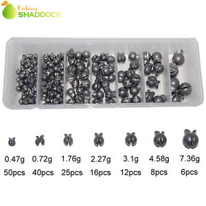 Fishing Sinkers Weight Split Shot Removable Lead Sinkers Kit for Saltwater