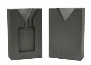 1 Troy Ounce Gold Rectangular Two 2 Part Split Graphite Ingot Mold w Clamp