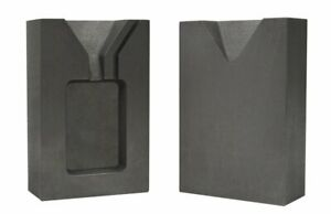 1 Troy Ounce Silver Rectangular Two 2 Part Split Graphite Ingot Mold w Clamp