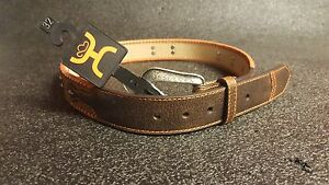 Hooey Western Mens Belt Leather Laser Burned Design Lacing Burnt Sienna 1660BE2