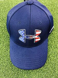 Under Armour Men's Blitzing Stretch Fitted HatCap- Midnight Navy- SM