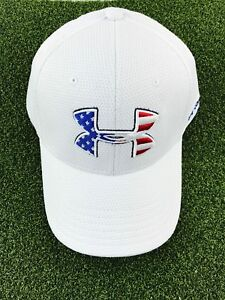 Under Armour Men's Blitzing Stretch Fitted HatCap- White- LXL