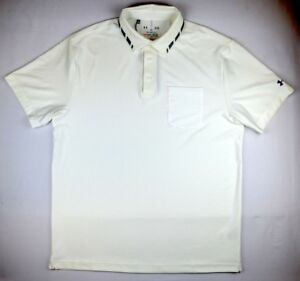 Under Armour 1440 Athletic Walking Mens Tipped Pocket Polo Shirt Sports Cream