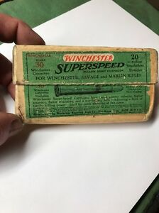 .30 Winchester 2 Pc. Cartridge Box RARE 1925 Only