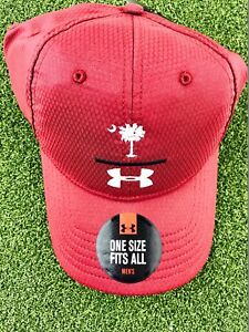 New Under Armour Men's Zone Adjustable HatCap- SC Logo - Cardinal Red