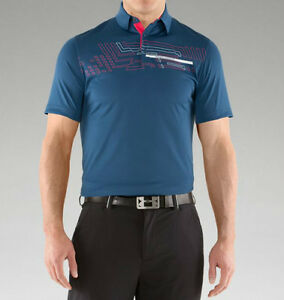 UNDER ARMOUR UA ENERGY GRAPHIC POLO LOOSE FIT GOLF SHIRT $70 XL
