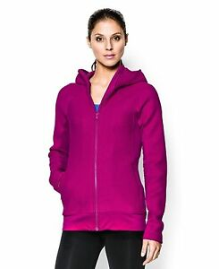 Under Armour Women's UA ColdGear Infrared Full Zip Hoodie Small MAGENTA SHOCK