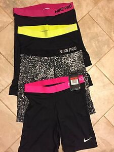 4 PAIR LOT NIKE PRO DRY FIT 7