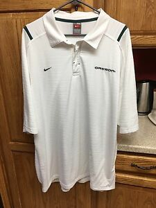 Nike Oregon Ducks Team Fit Dry Polo Collared Shirt Men's Sz 3XL