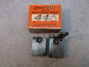 Vintage Lyman Ideal Single Cavity 445RB .445 Round Ball Mould Mold Stk#2645445UB