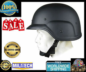 Military Bulletproof Helmet PASGT Level IIIA Army Combat Ballistic Black New