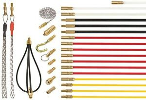 Rod Cable Routing Kit Inspecting Wire Fishing Conceal Route Bra