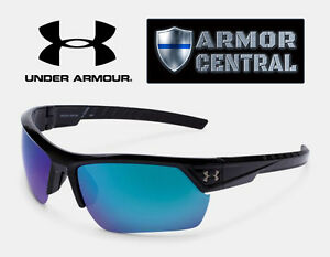 Under Armour Igniter 2.0 Polarized Sunglasses - Satin Black Frame  Blue Lens