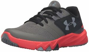 Under Armour Boys Pre-School Primed Running Shoes GraphiteAnthem Red 1
