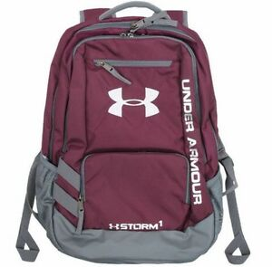 NEW Under Armour Storm Hustle Backpack - Burgundy  Graphite