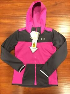 NEW Girl's Under Armour 'STORM2 INFRARED Full Magnetic Zip Hoodie' YLG MSRP$110
