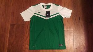 NWT Nike Boy's Green Dry Fit Short Sleeve Shirt Size M