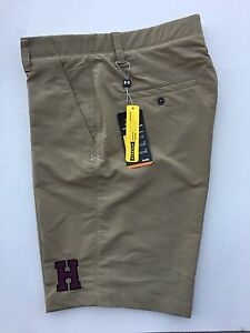 NEW Under Armour Tan Stretch Golf Shorts Size 34